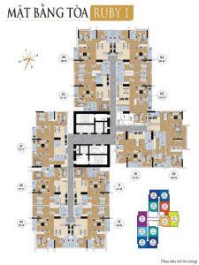 thiết kế tòa ruby 1 goldmark city