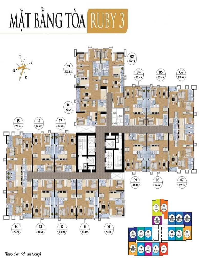 Thiết kế tòa ruby 3 goldmark city