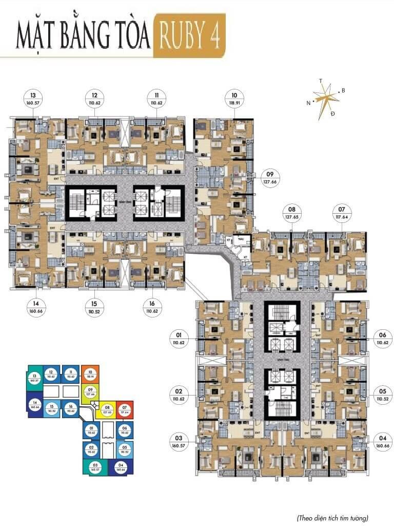 thiết kế tòa ruby 4 goldmark city