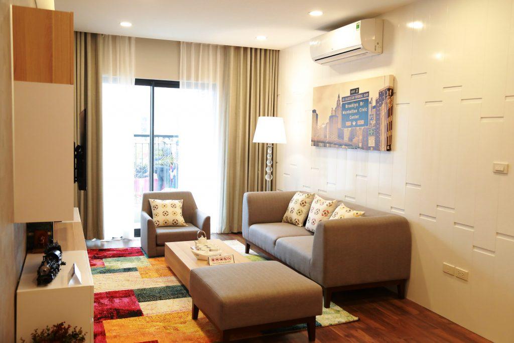 Phòng khách căn hộ Goldmark city