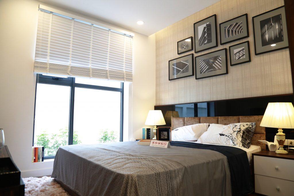 Phòng ngủ chính căn hộ Goldmark City