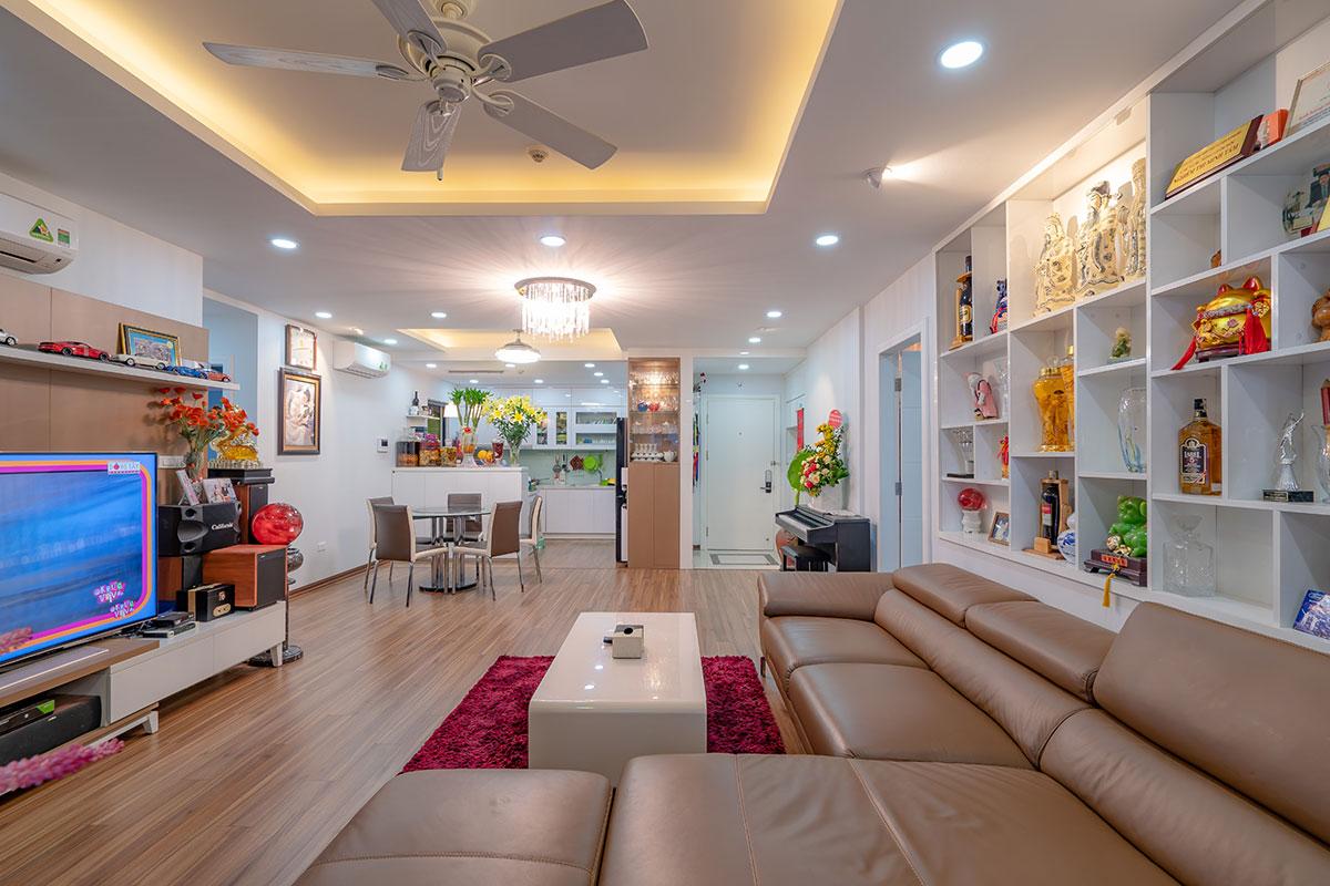 Phòng khách căn hộ tòa Sapphire 2 Goldmark City