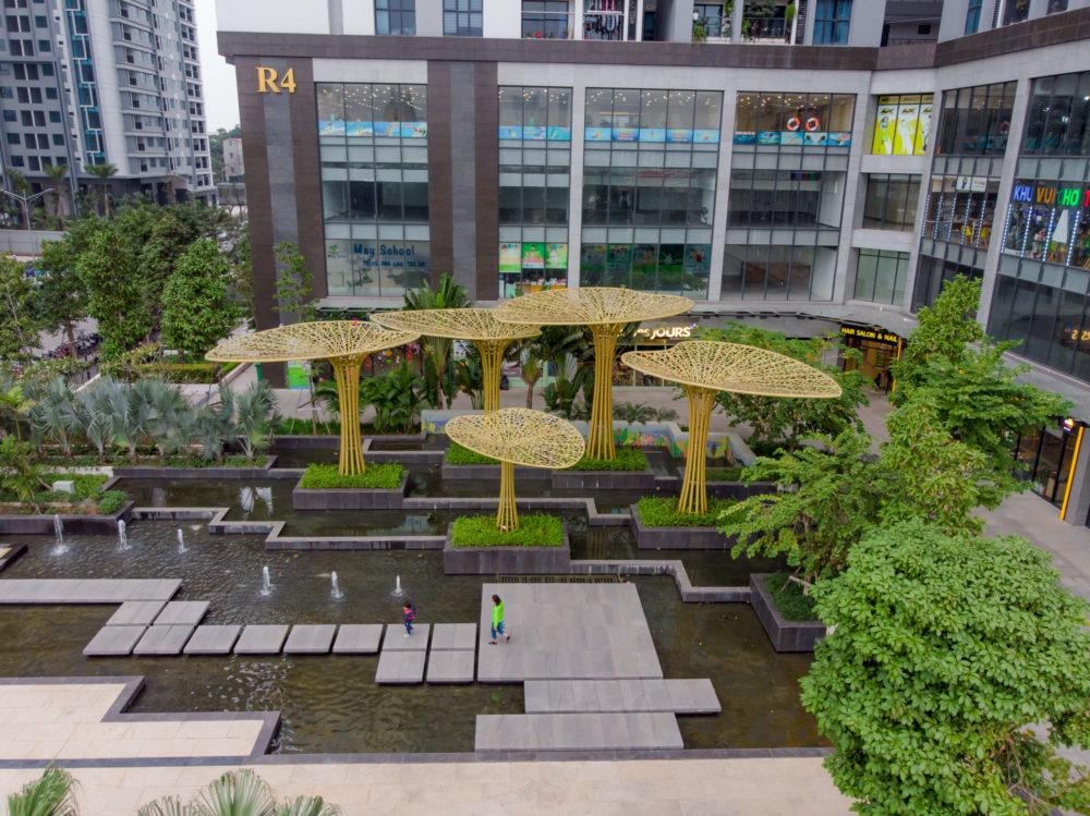 Quảng trường nước tại Goldmark City