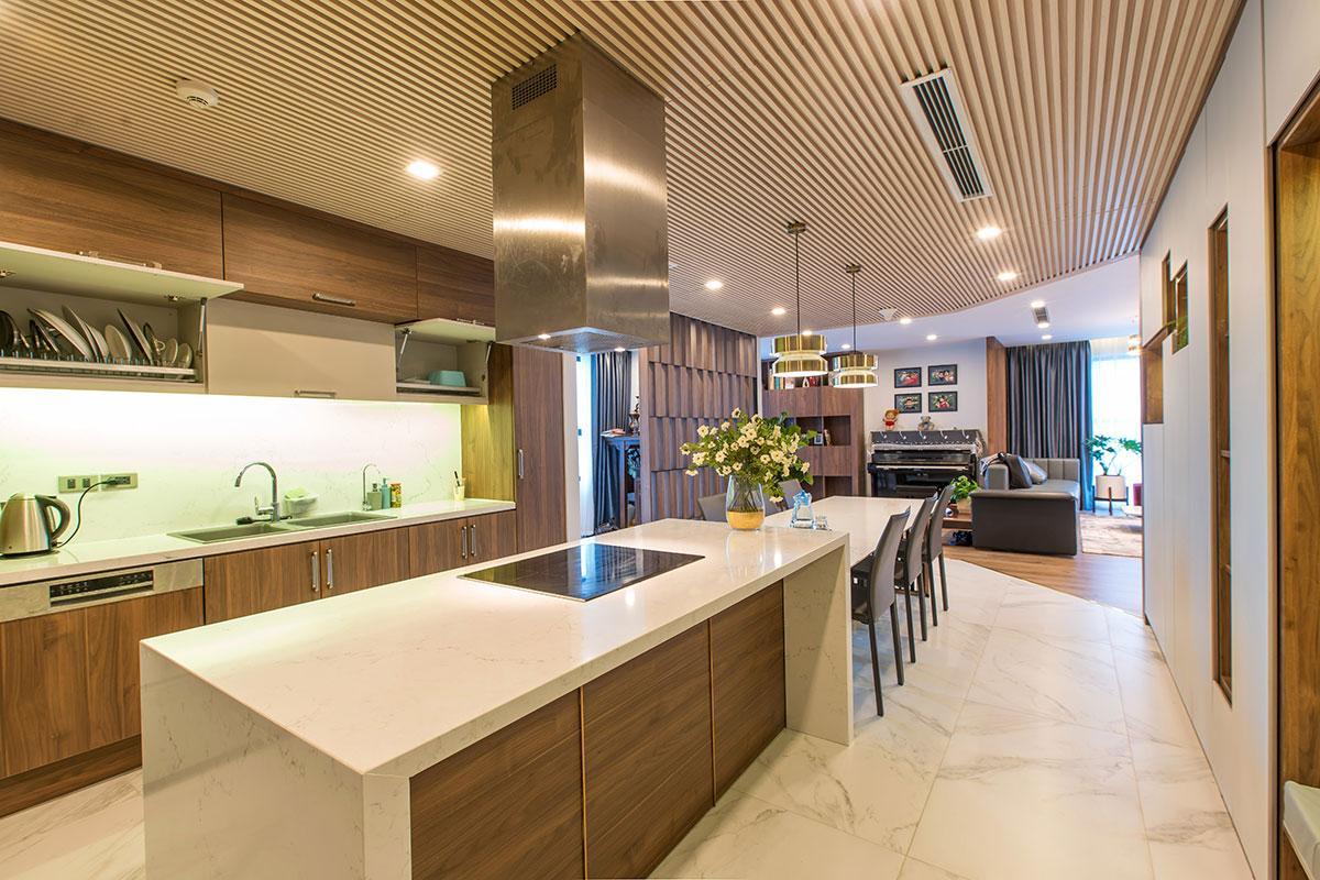 Phòng bếp căn hộ tòa Sapphire 2 Goldmark City
