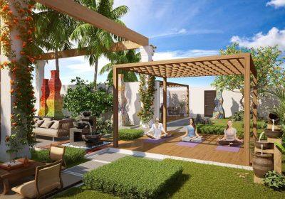 Vườn Thiền trên tầng mái tòa Sapphire 1 Goldmark City